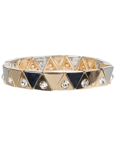 Metallic Triangle Pattern Stretch Bracelets