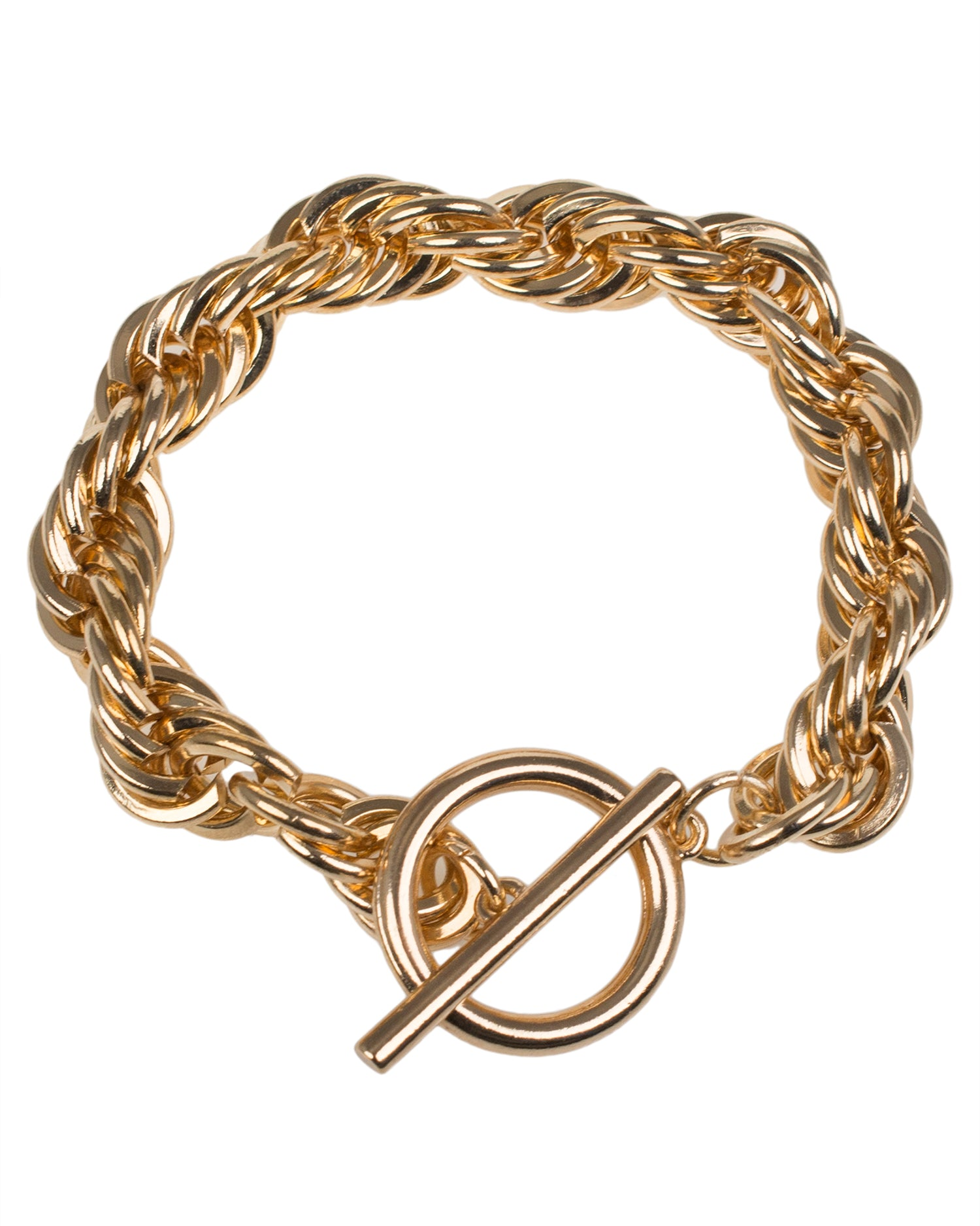 Gold Plated Rope Chain Bracelet