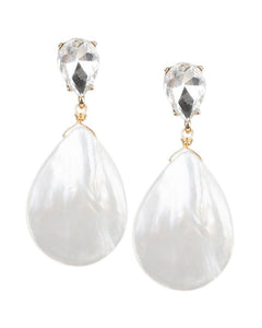 Mother of Pearl Pear Drop Earrings