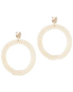 Round Rattan Open Earrings
