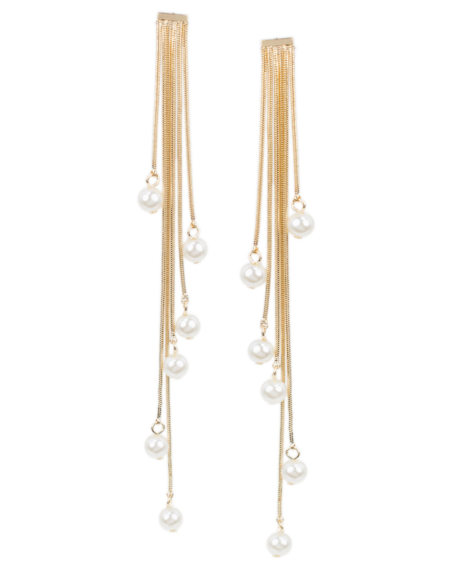 Pearl Shoulder Duster Earrings