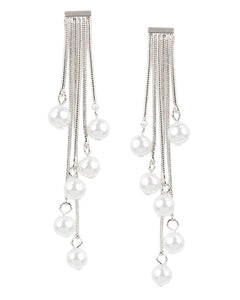 Multi Stranded Earrings with Pearls