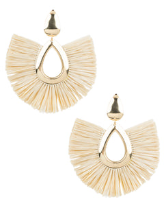 Teardrop Raffia Earrings