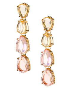 Ombre Pink Drop Earrings