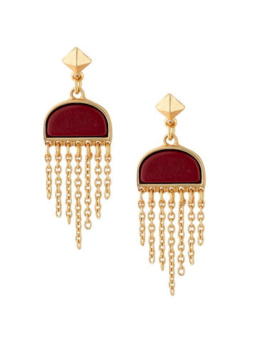 Semi Precious and Fringe Earrings