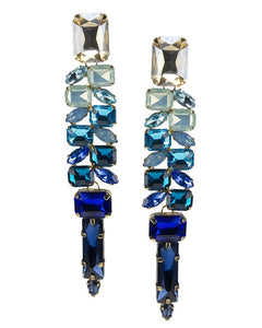 Blue Ombre Crystal Earrings