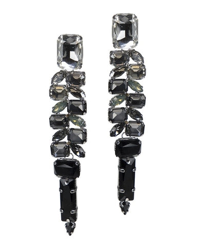 Grey Ombre Crystal Earrings