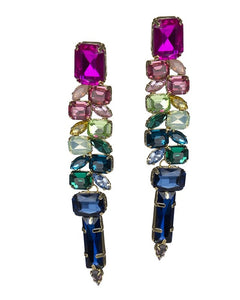 Rainbow Ombre Crystal Earrings
