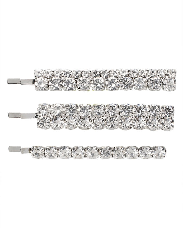 Crystal Hair Pins Set