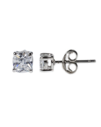 Petite Cushion Cut Stud Earrings