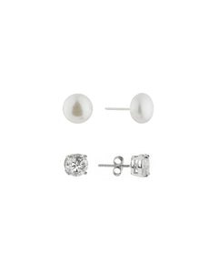 Pearl and CZ Set