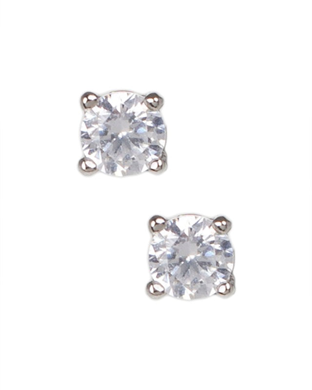 .5 CTTW Round Stud Earrings