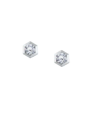 Hexagon Stud Earrings