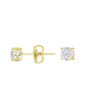 Gold Plated Petite Round Stud