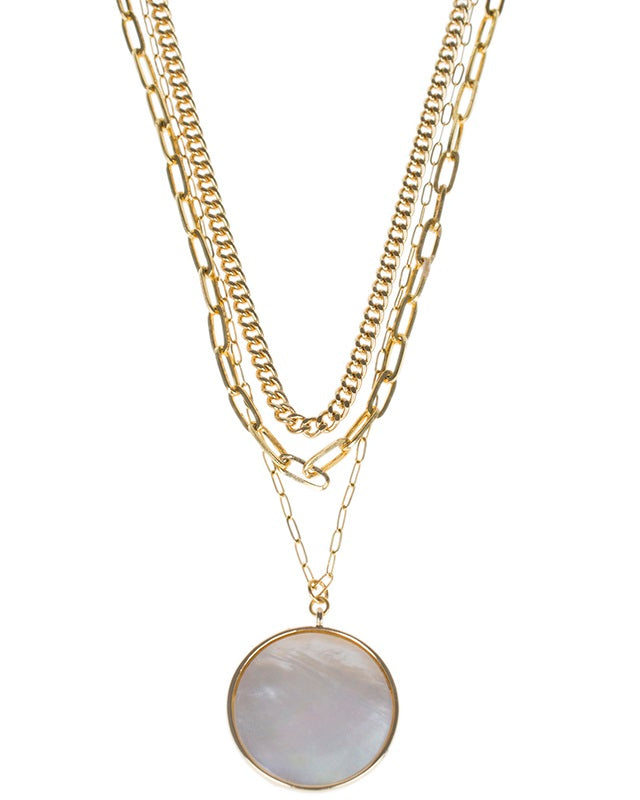 Multi Layer Mother of Pearl Necklace