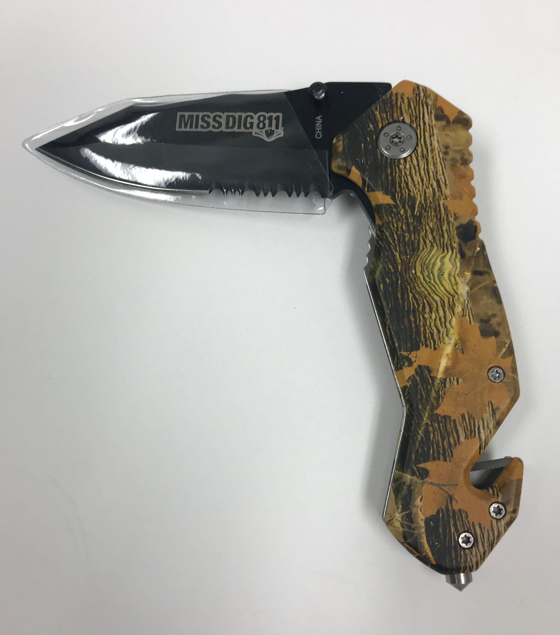 Camo Rescue Knife