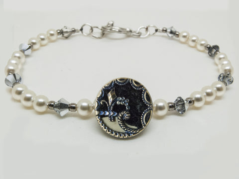 Antique Perfume Button Bracelet