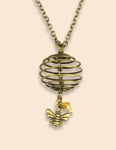 Bee and Cage Pendant