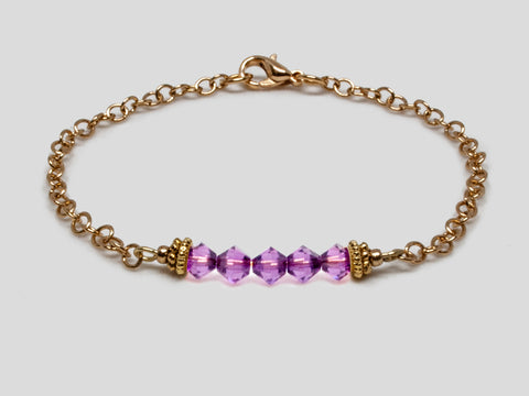 Birthstone Bracelet - February