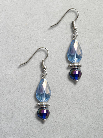 Blue & Purple Teardrop Earrings