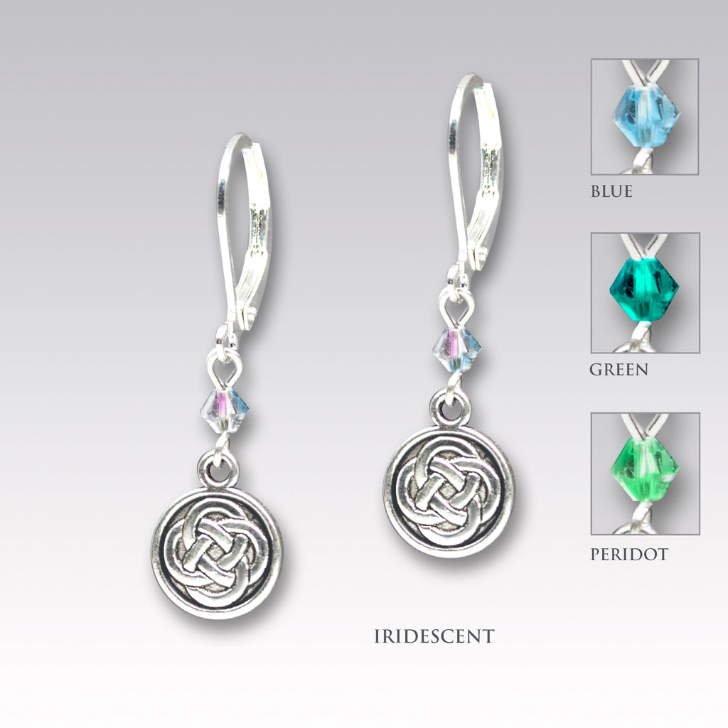 gold triquetra and earrings knot symbol rose celtic plated charm products trinity