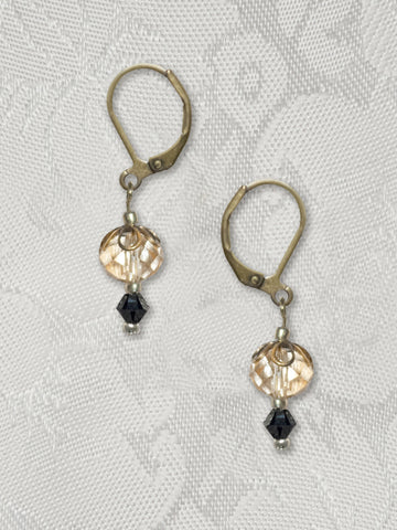 Champagne Crystal Earring