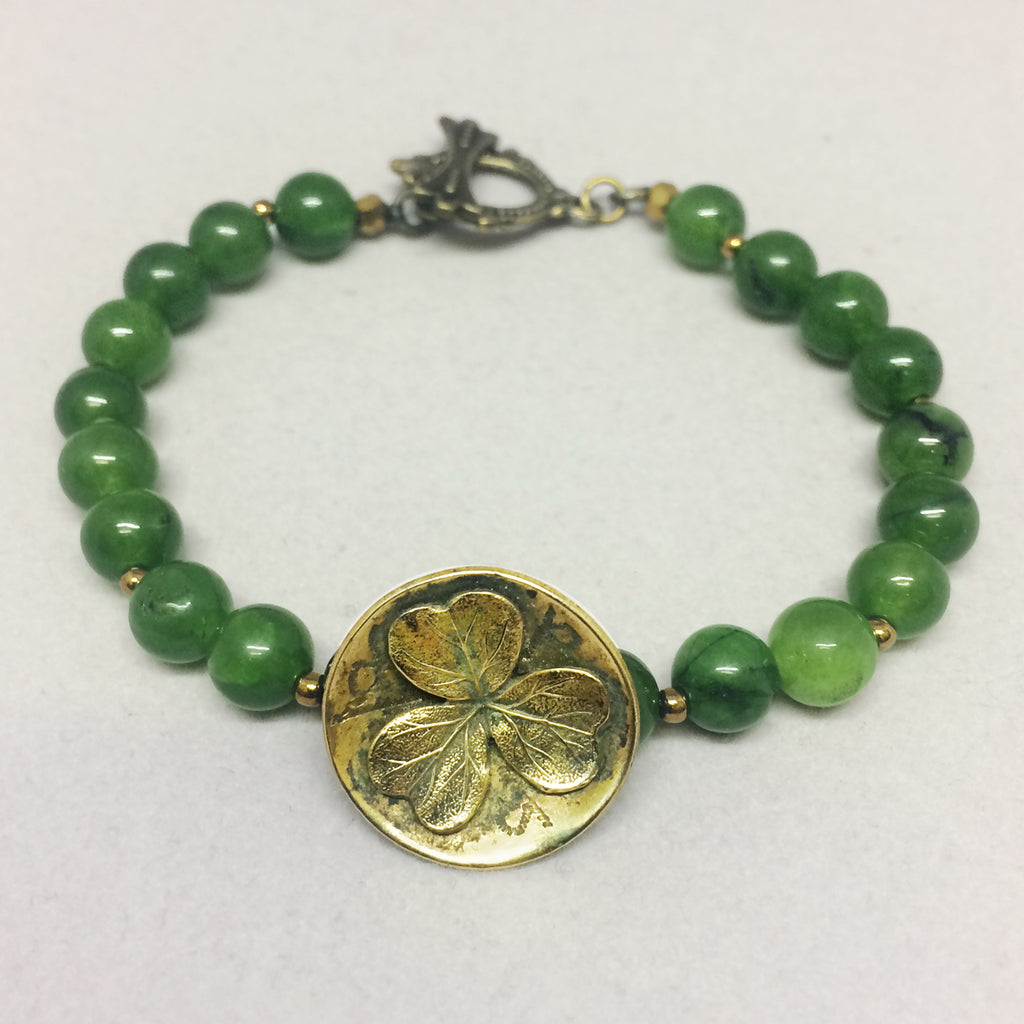Clover Button Bead Bracelet
