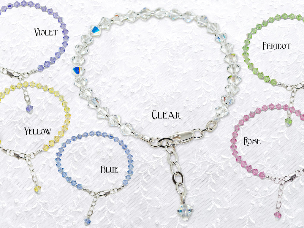 Crystal Bridal Party Bracelets