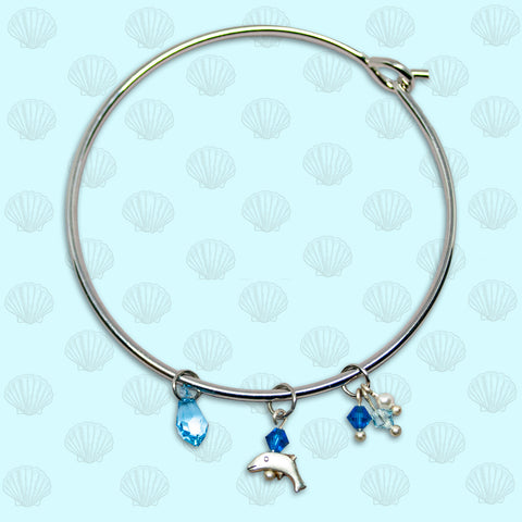 SeaGems Dolphin Bangle