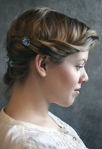 Forget-Me-Not Hairpins