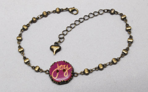 Joy Button Chain Bracelet