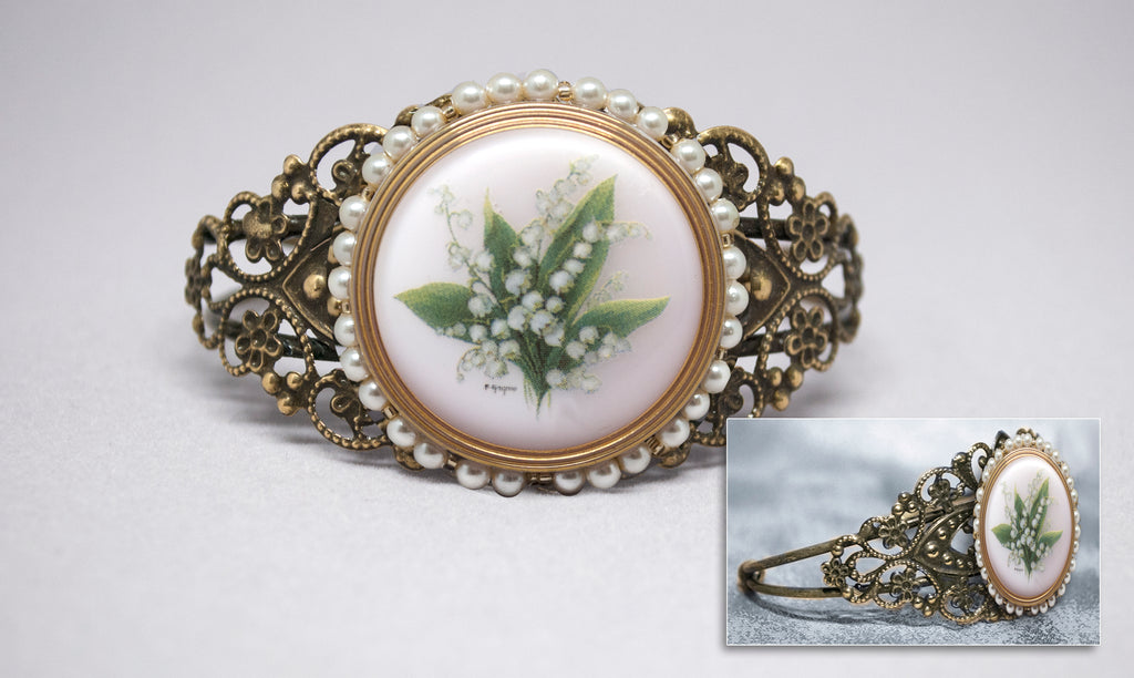 Lily of the Valley Button Cuff