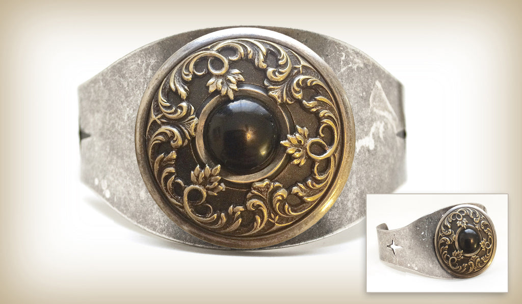 Ornate Medieval Design Cuff-Blackstone
