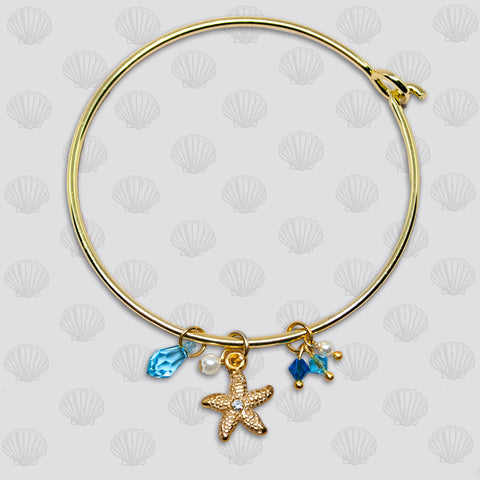 SeaGems Gold Starfish Bangle