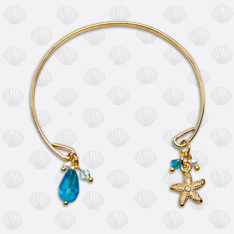 SeaGems Gold Open Starfish Bracelet