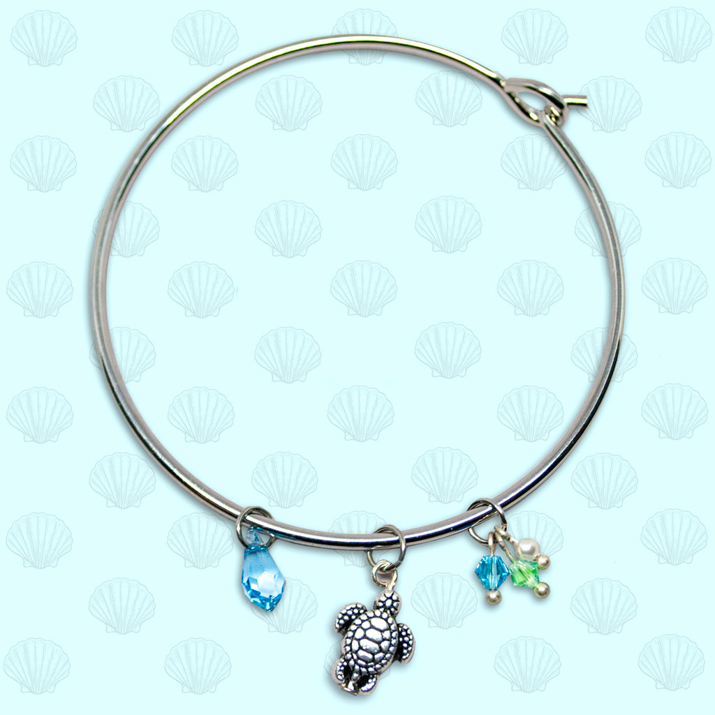 SeaGems Large Turtle Bangle