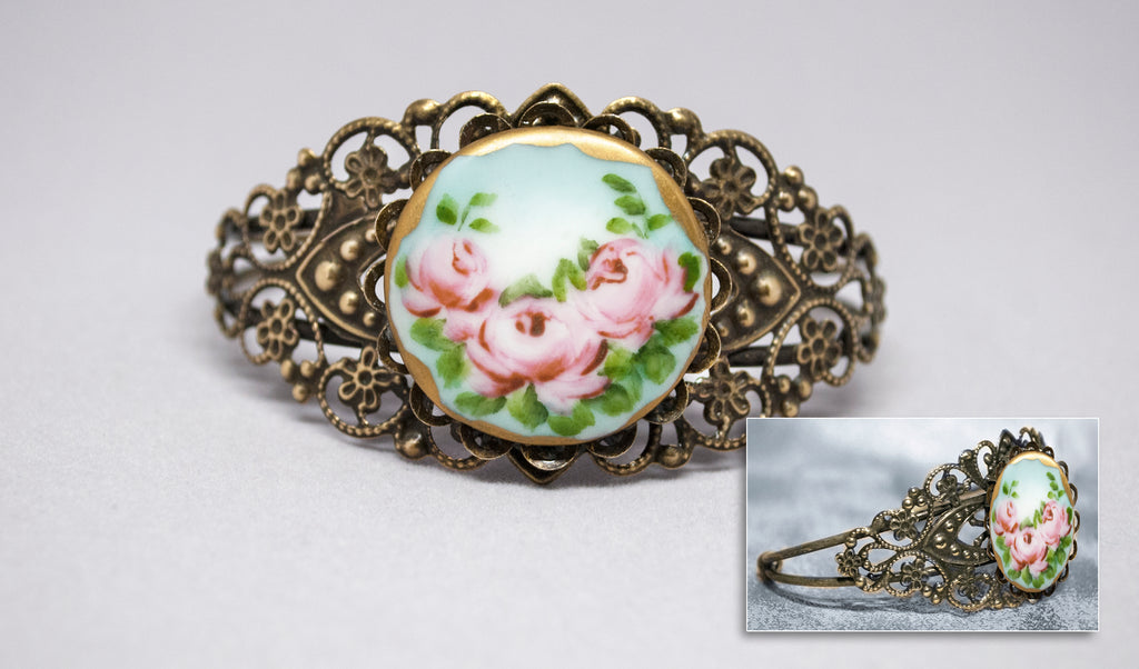 Three Roses Button Cuff