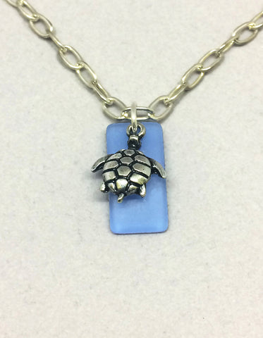 Sea Turtle Seaglass Pendant