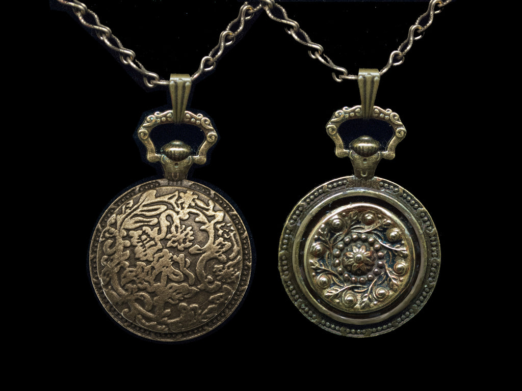Watchcase Pendant-Fiddlehead