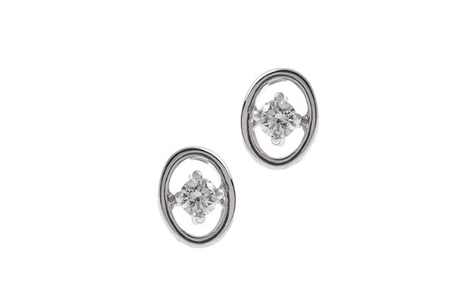 18ct White Gold Diamond Stud Earrings MCS2486_D