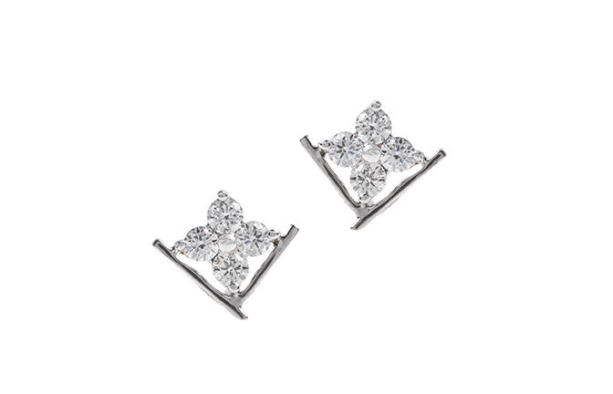 18ct White Gold Diamond Stud Earrings MCS2487_D