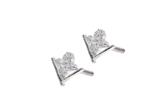 18ct White Gold Diamond Stud Earrings MCS2487_C