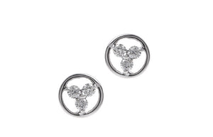 18ct White Gold Diamond Stud Earrings MCS2490_D