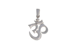 18ct White Gold Om Pendant with Shiv Ling, Minar Jewellers - 2