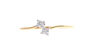 22ct Gold Cubic Zirconia Dress Ring