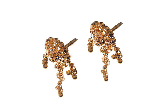 22ct Yellow Gold Drop Earrings (E-3330) (online price only)