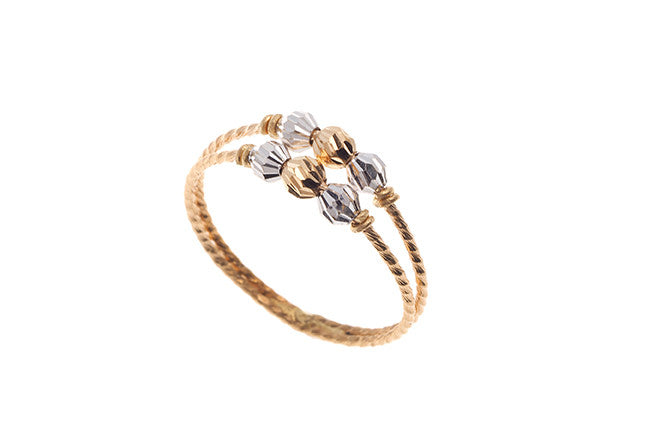 22ct Yellow Gold & White Rhodium Dress Ring