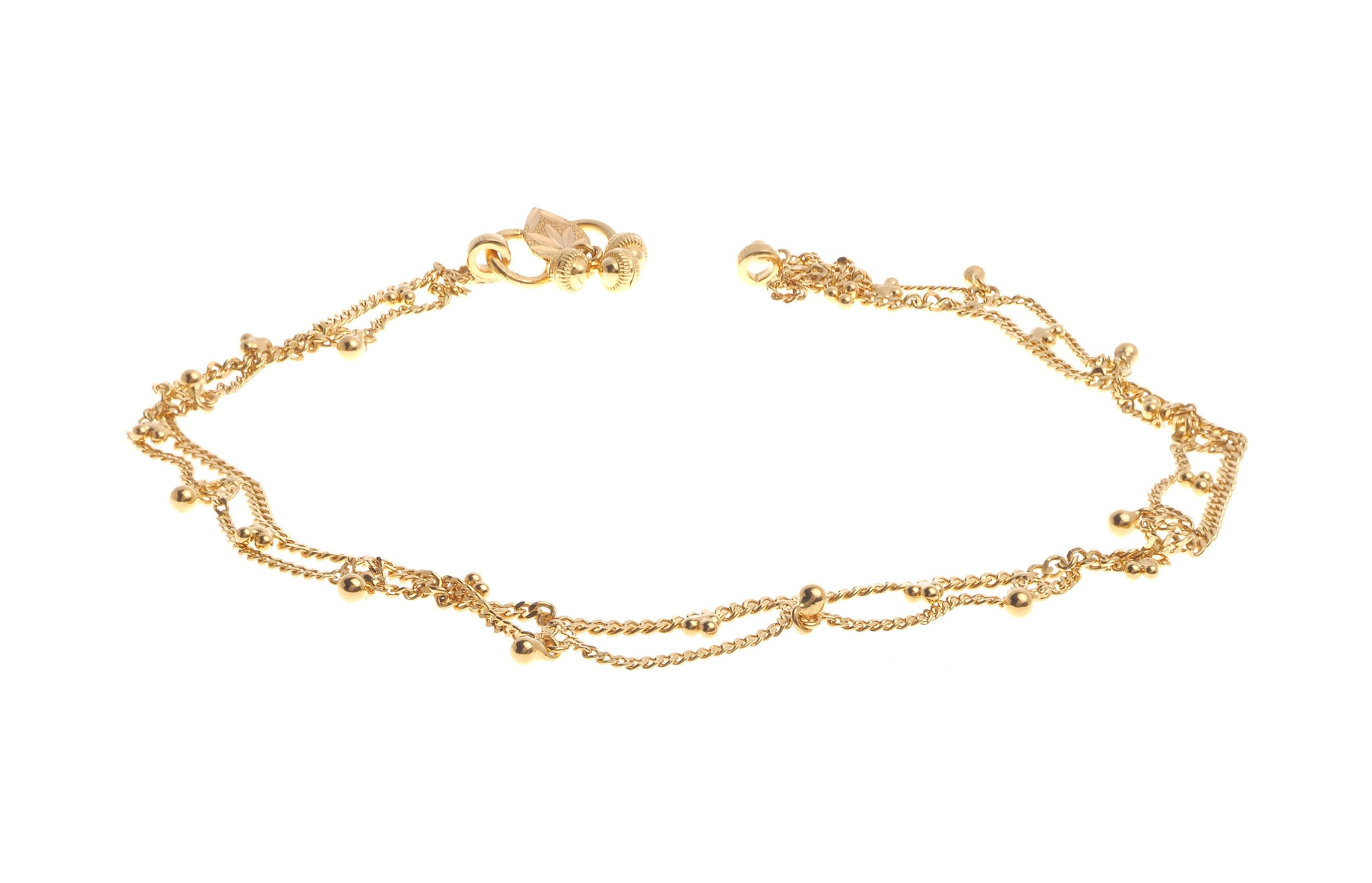 anklet jewelry gold irish watches yellow product inch today overstock free shipping claddagh