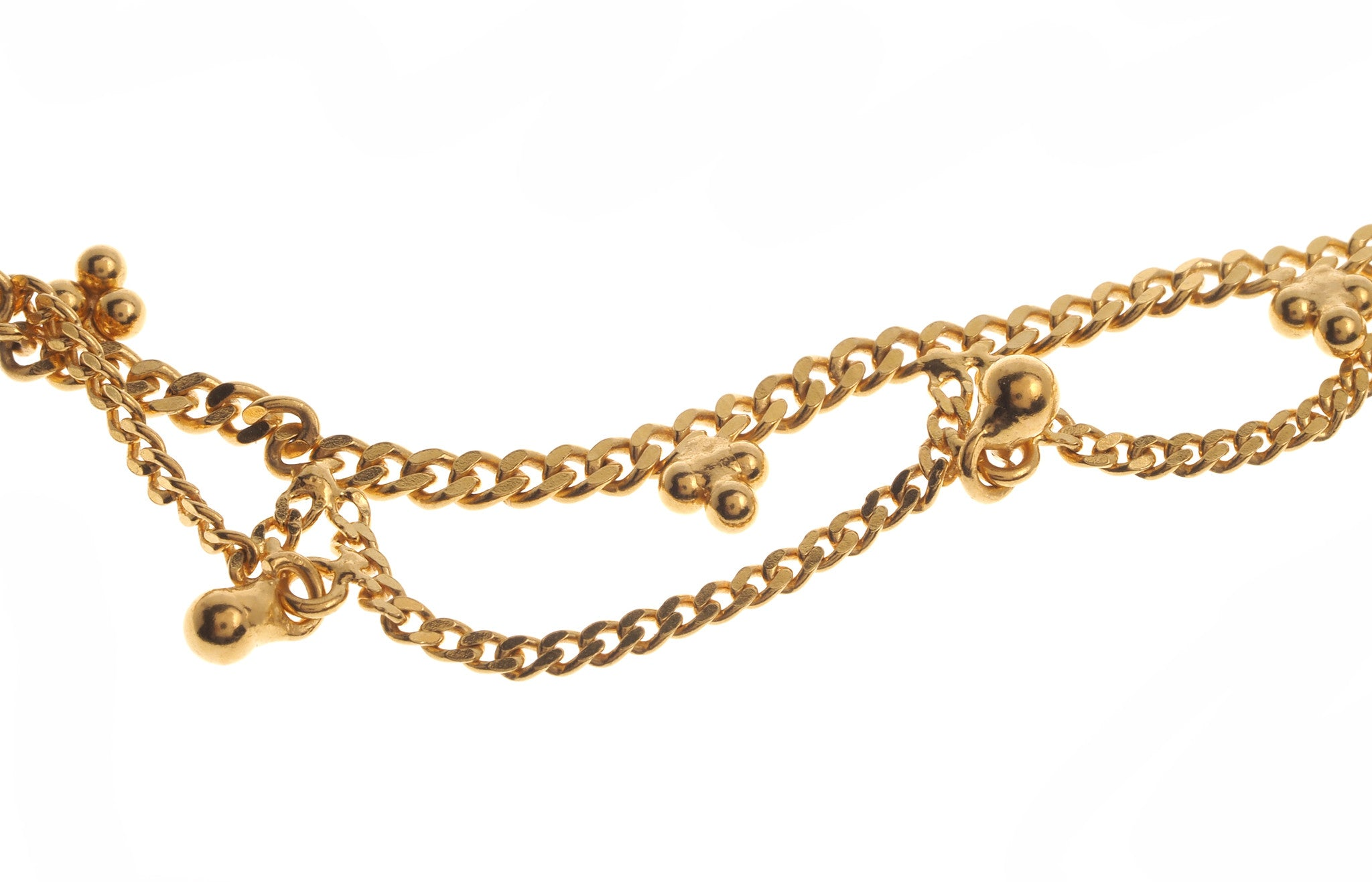 gold anklet yellow zoe bracelet save lyst chicco karat in metallic jewelry star fullscreen view