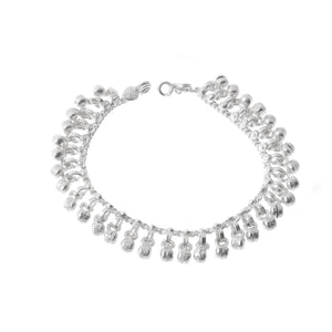 Sterling Silver Baby Anklets with Ghughri Bell Charms for Children (A-7147)